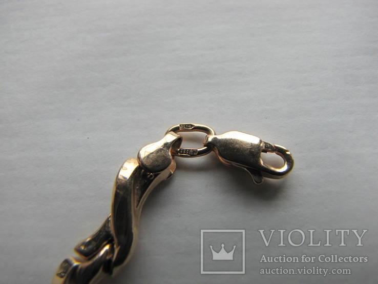 Браслет золото 585` 7,19гр фианиты, фото №5