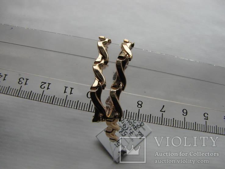 Браслет золото 585` 7,19гр фианиты, фото №6