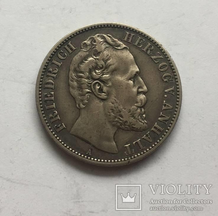 Германия Анхальт 2 марки 1876, фото №2