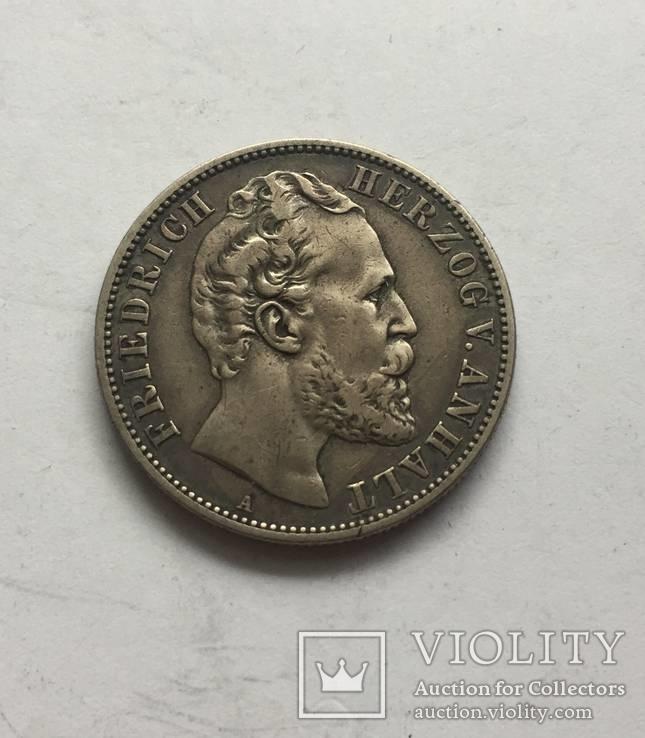 Германия Анхальт 2 марки 1876, фото №3