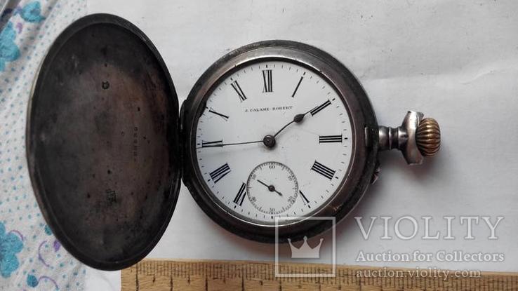 Карманные часы  J. Calame Robert серебро