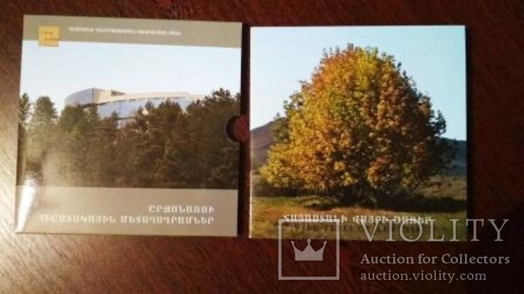 Набор памятных монет дикие деревья Армении 200 драм 2014, фото №6