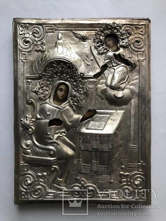 """Старинная икона """"Благовещение Пресвятой Богородицы""""."""