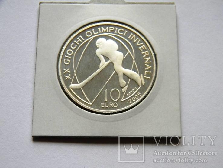 10 ЕВРО ''Олимпиада в Турине'', 2005г., Серебро 925 пробы, 22,05 грамма.