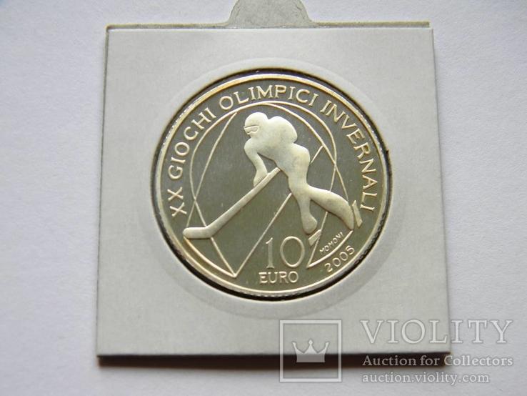 10 ЕВРО ''Олимпиада в Турине'', 2005г., Серебро 925 пробы, 22,05 грамма., фото №4