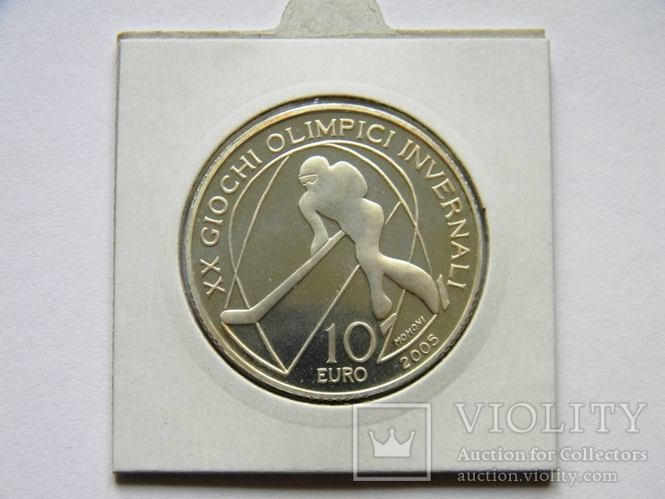 10 ЕВРО ''Олимпиада в Турине'', 2005г., Серебро 925 пробы, 22,05 грамма., фото №7