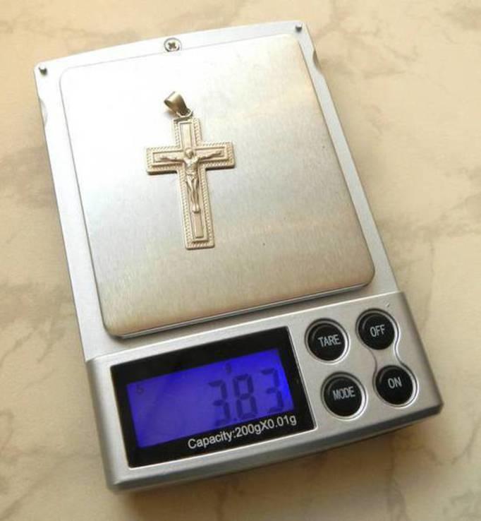 Крест #35, серебро, фото №4