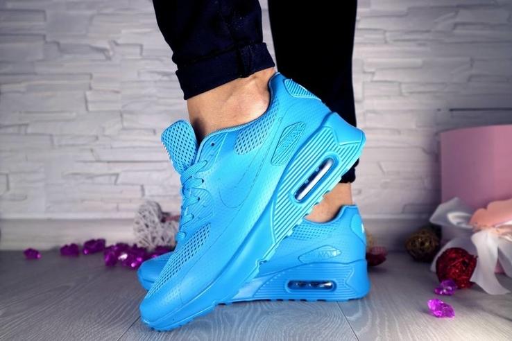 Женские Кроссовки Nike Голубые 10196 Размер 36