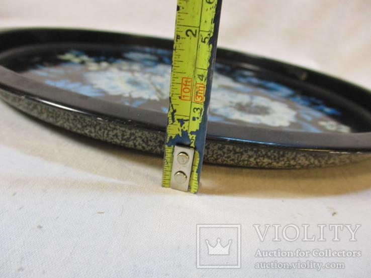 Поднос жестяной диаметр 30 см, фото №6
