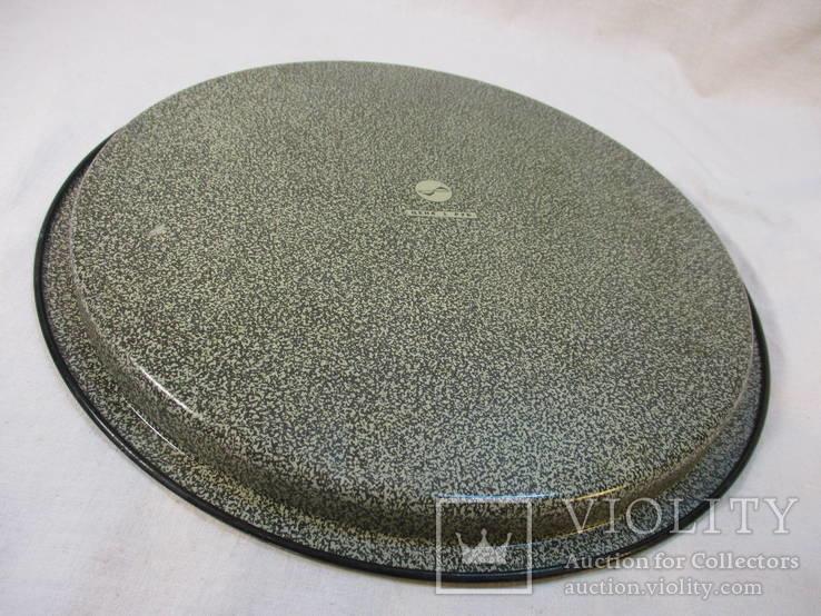 Поднос жестяной диаметр 30 см, фото №8