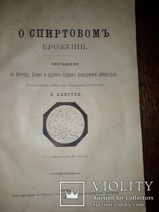 1893 Спиртовое и винное брожение