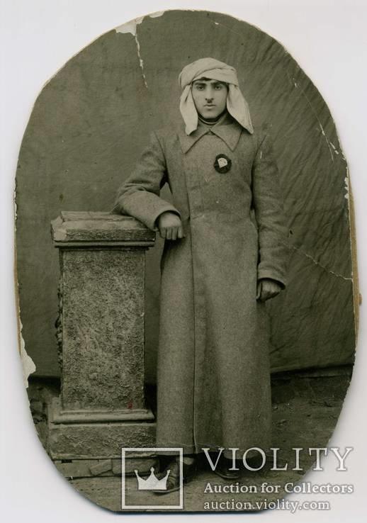 Фото ранние Советы. Абхаз в шинели возможно с ТКЗ Абхазской ССР., фото №2