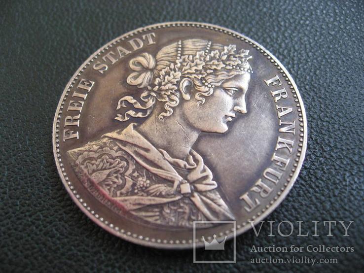 Франкфурт 1 талер 1860 г. Серебро