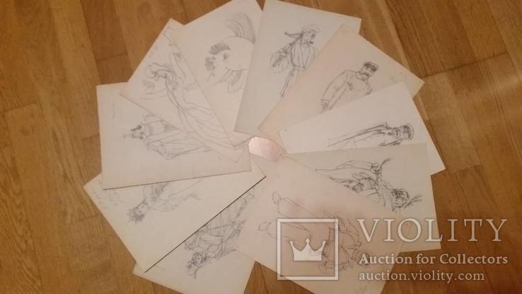 10 театральних ескізів Орлова Г.М. олівцем