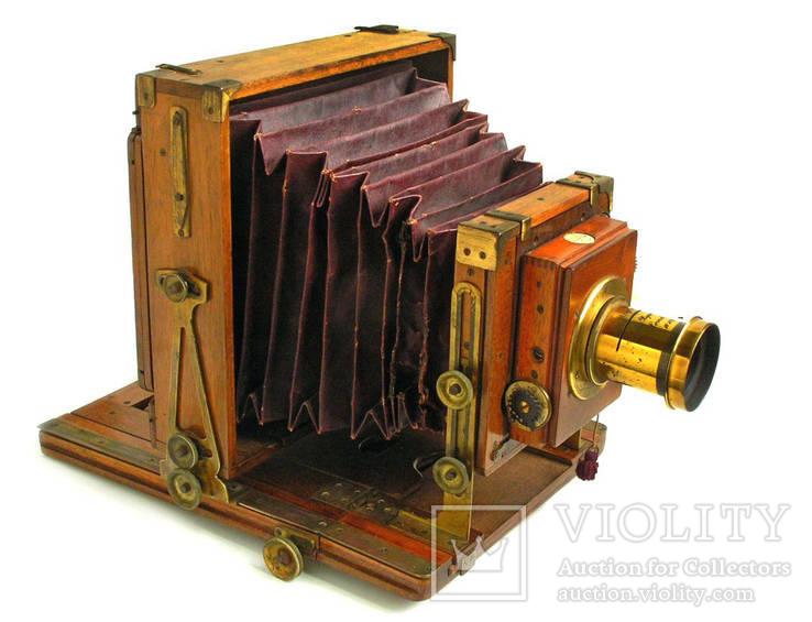 Фотоаппарат деревянный, старинный, Англия.
