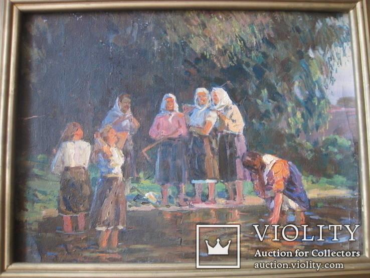 "Эскиз к картине ""Шутка"" худ.Петухов В.А.1956 г."