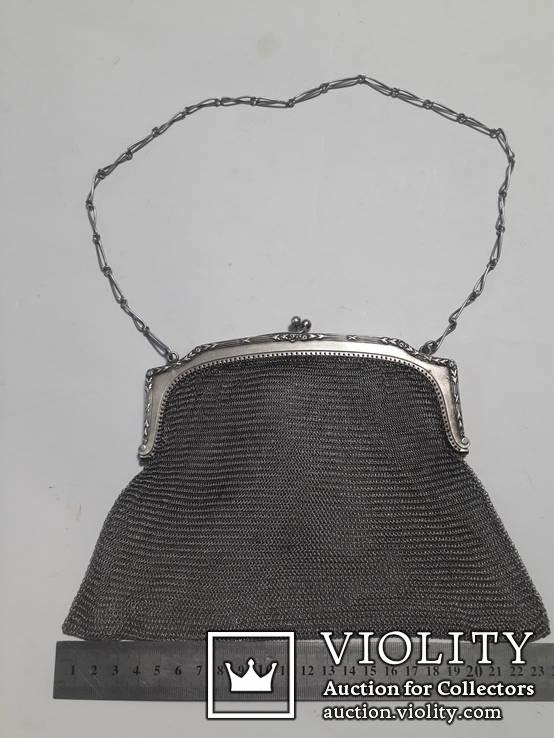 Театральная сумочка, серебро 800*, фото №2