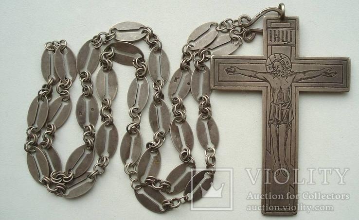 Наградной наперсный «Павловский» крест Серебро 84 проба