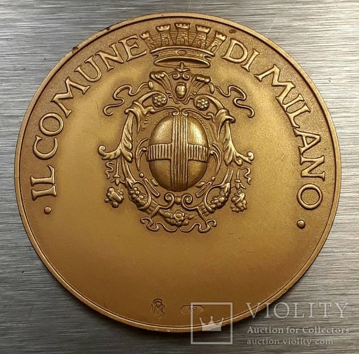 Золотая медаль муниципалитета Милана с документами
