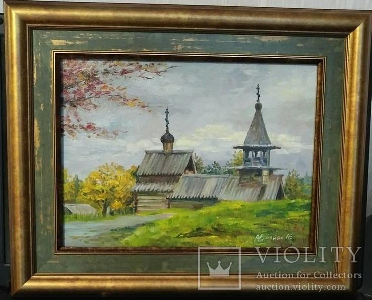 """Картина """"Старая церковь"""". Худ. Найда"""