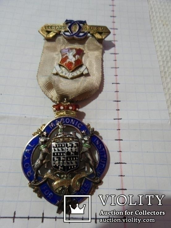 Масонская медаль серебро 1930 год знак масон 2320
