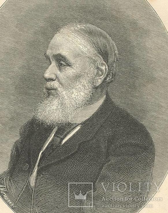 И.А.Гончаров ксилография 1888 год