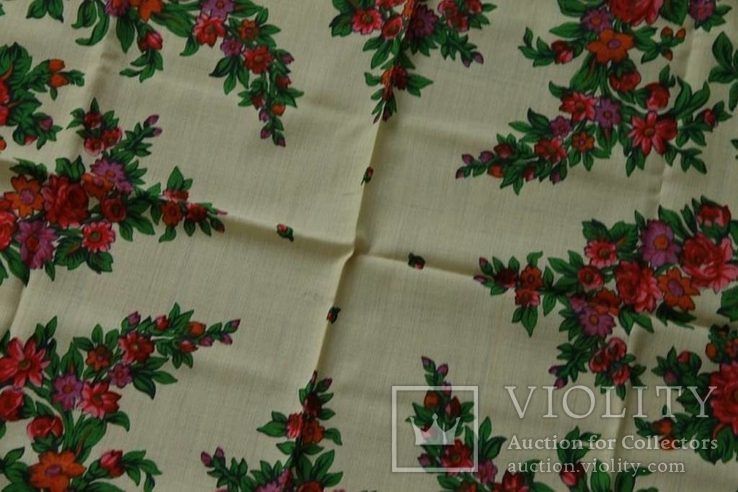 Шерстяной старинный платок №139, фото №7