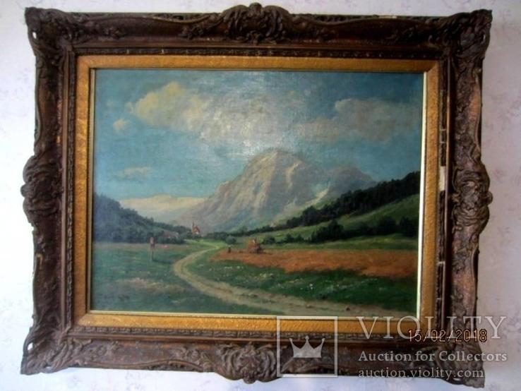 Ст. пейзаж подпись художника Вт. половина XIX века.Австро-Венгрия