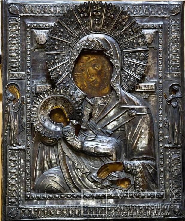 Икона Божией Матери Утоли мои печали в серебряном окладе (41*33,5*3 см.)