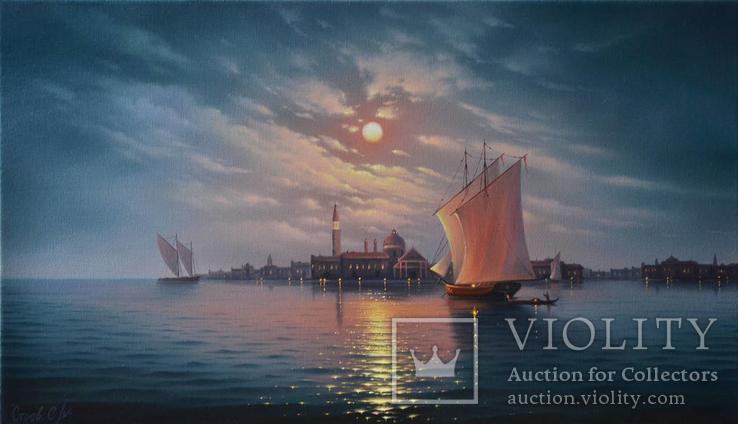 Полнолуние над Венеций 40х70