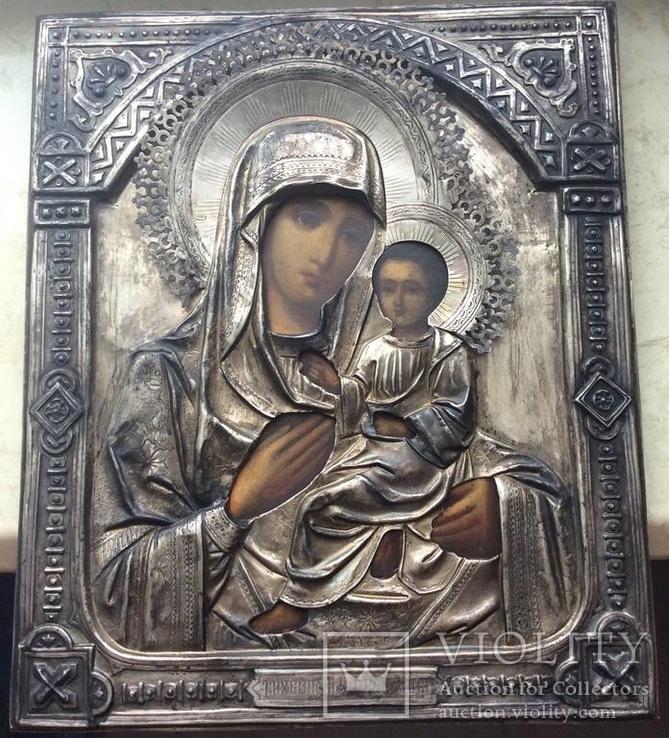Тихвинская Богородица 84. 27 на 22 см