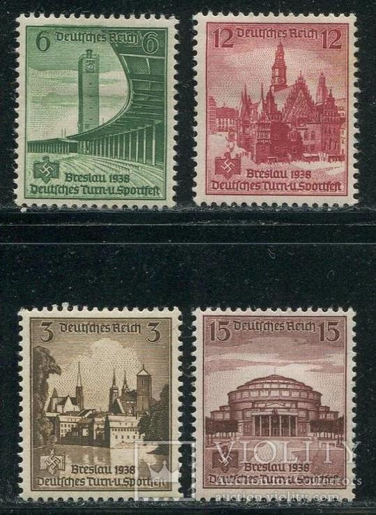 1938 Рейх полная серия  архитектура спортивные игры