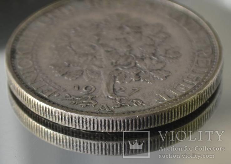 5 марок 1927 Е Эйхбаум Дуб