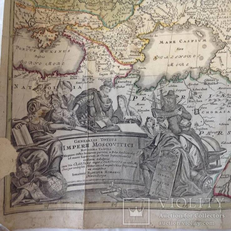 Карта московской империи 1704 г.Оригинал
