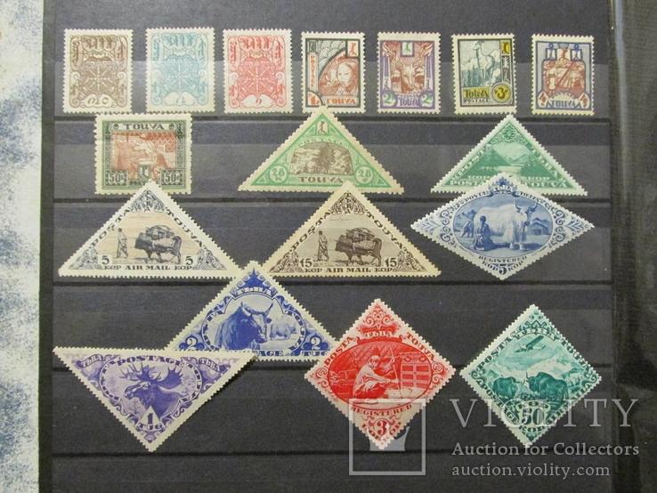 СССР Азия Тува Коллекция марок