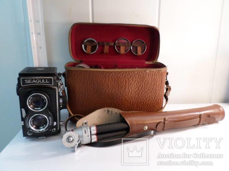 Seagull двух объективный среднеформатный фотоаппарат