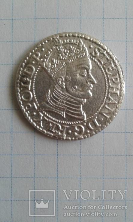 Грош 1579 р. м.д. Гданськ ( Едмунд Копіцький 7433)
