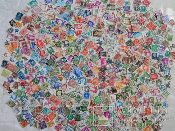 Марки разных стран и периодов 500 шт