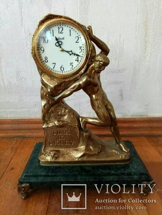 Механические бронзовые часы ( время деньги)