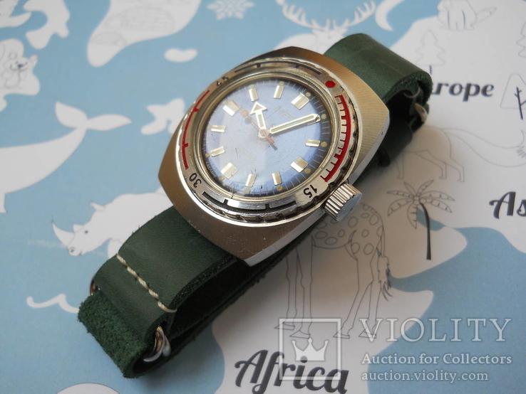 Часы восток амфибия бочка с ремешком ZULY