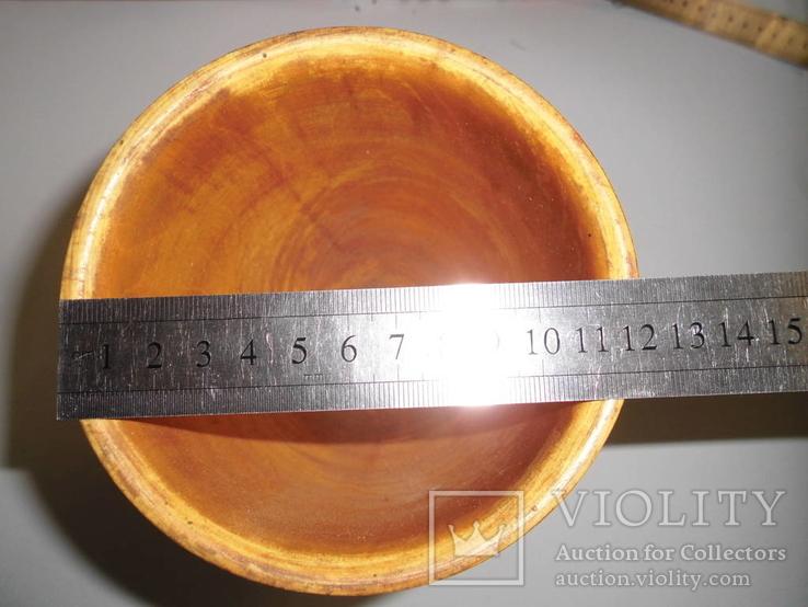 Ваза деревянная с росписью, фото №8