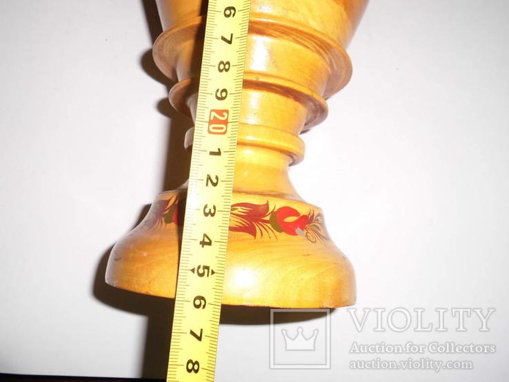 Ваза деревянная с росписью, фото №14