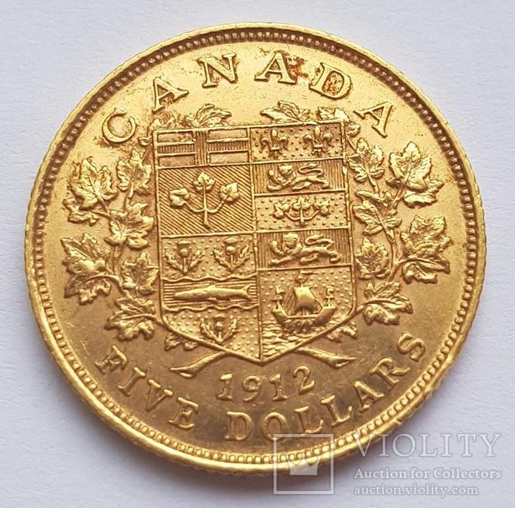 5 долларов 1912. Канада.