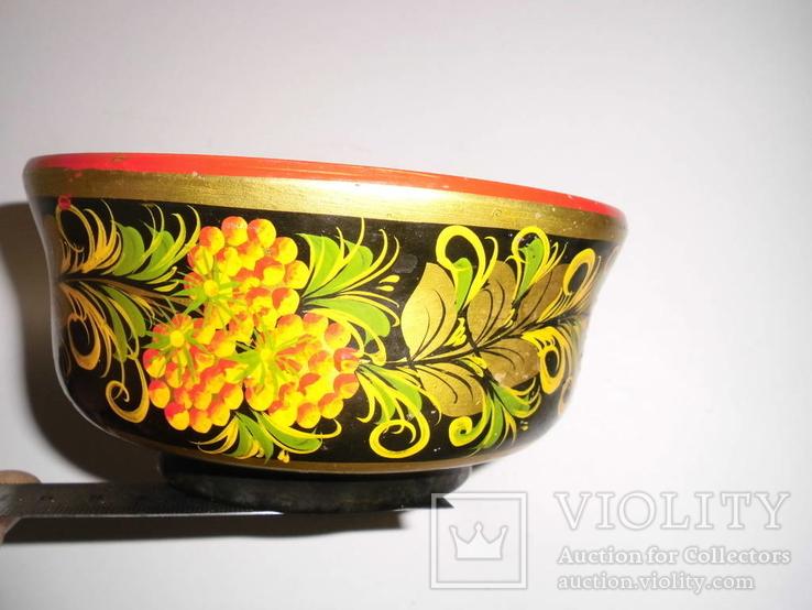 Ваза для фруктов (хохлома), фото №6