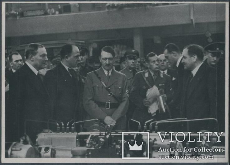 Германия 1936 Гитлер Пропаганда NSDAP Гофман Фото карточка-вкладыш №86