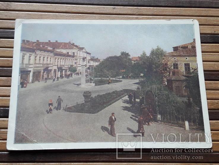 1266. Почтовая карточка Коломыя Площадь Ленина 1959 год