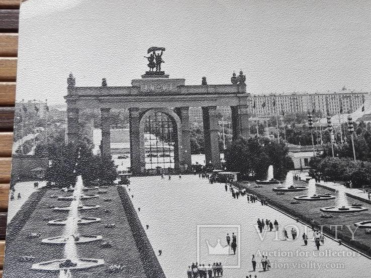 1272. Почтовая карточка Москва Центральный вход ВДНХ 1966 год, фото №3