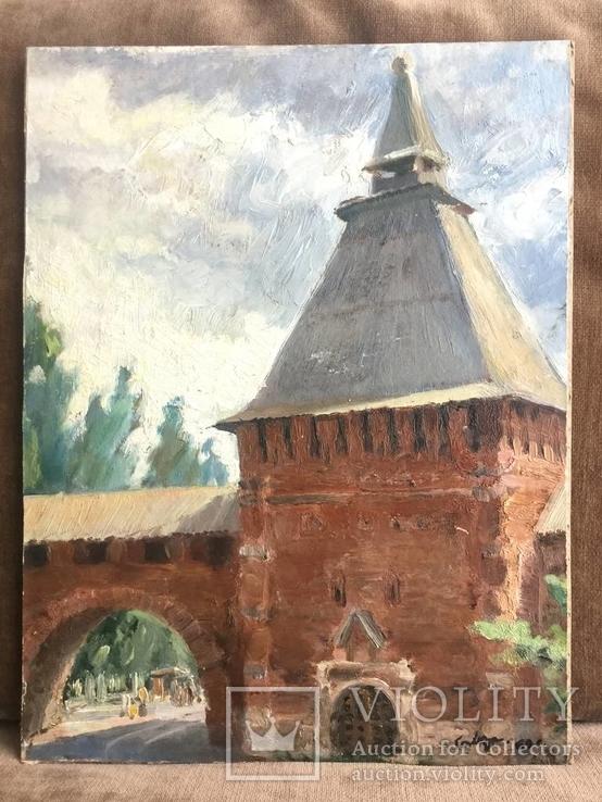 Крепостная стена 1969 год —подпись автора