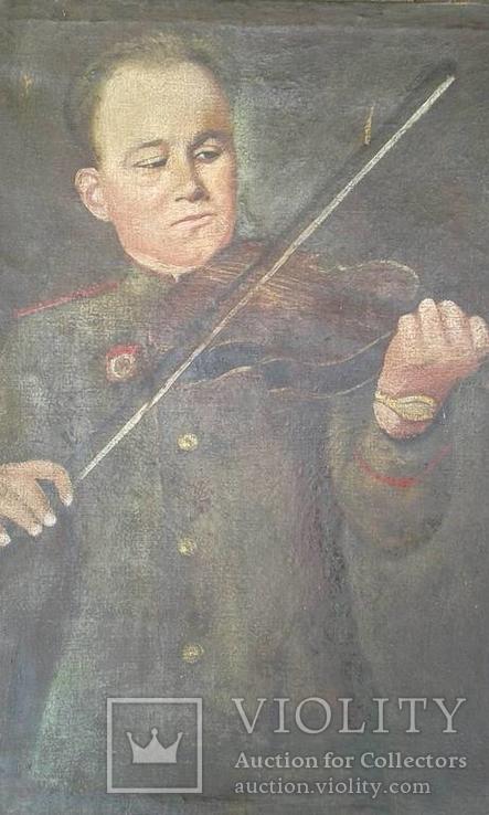 Военный со скрипкой