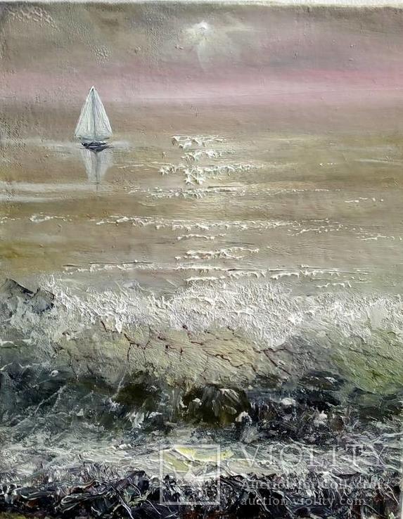 Рассвет на море.автор Величко(Ушакова)